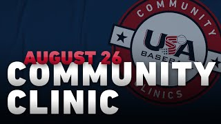 Community Clinic: August 26, 2020