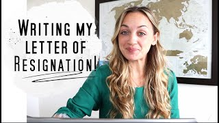 How to write a letter of Resignation! (I'M LEAVING MY RN JOB!)