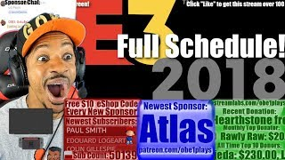 Entire E3 2018 Schedule | Nintendo, Sony, Microsft, EA, Square, Ubisoft, Bethesda