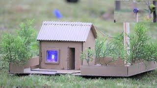 How to make a cardboard house - windmill - wind turbine