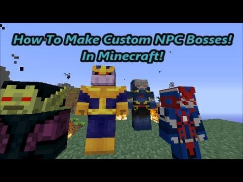 Minecraft Spider King Boss Fight | Custom Npcs Mod 1 10 2