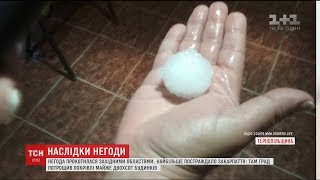Потрощені дахи, побиті машини та затоплені вулиці: наслідки негоди на Західній Україні