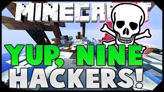 NINE HACKERS, CHAT GLITCH, PROTECT THE PACKAGE! ( Hypixel Skywars Funny Moments )