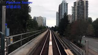 Vancouver City Skytrain Front Cabin View From Waterfront To King George For The Whole Journey
