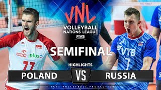 Poland Vs Russia | SEMIFINAL | Highlights | Men's VNL 2019