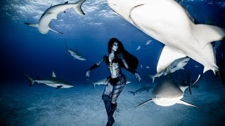 Real Life Mermaid & Underwater Performance Artist - Hannah Fraser & Ocean Animals - 'Emanation'