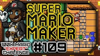 "Super Mario Maker #109 - 100 Mario Expert Courses | ""Ordeal of a Young PK"""