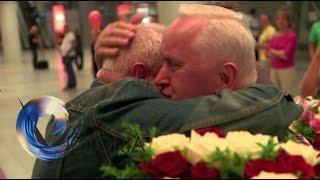 Twins reunited after 70 years apart - BBC News