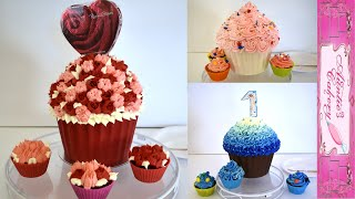 Deliciously Darling Giant Cupcakes