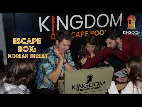 Escape-box: Korean -Threat - teambuilding for alle. Kun 149,- per person hvis dere er minst ti personer