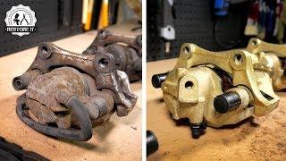 4x BMW E30 Brake Caliper [Restoration] - Gold Zinc Finish | BMW E30 325i Sport Restoration S2 E3