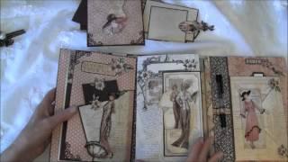 Graphic 45 A Ladies Diary Year Book Journal / Mini Album  - Tutorial