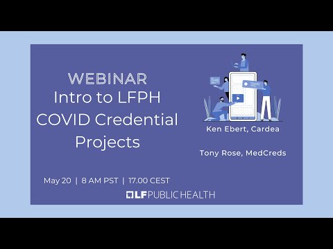 Intro to LFPH COVID Credential Projects