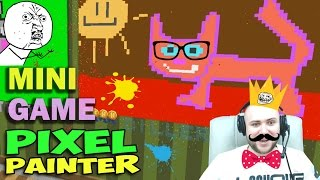 ч.01 Minecraft Pixel Painter - Кошка, Бабочка и Пейзаж