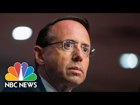 Rosenstein Would Not Have Approved Carter Page Warrant Knowing What He knows Now | NBC News NOW