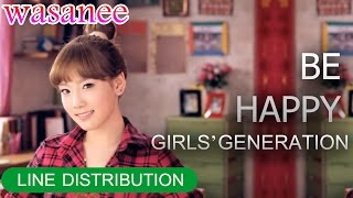 Girls' Generation/Snsd - Be Happy - Line Distribution (Color Coded Image)