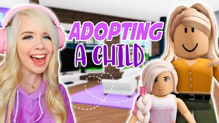 I ADOPTED A CHILD IN BROOKHAVEN! (ROBLOX BROOKHAVEN RP)