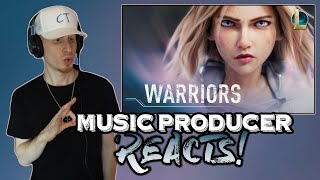 Music Producer Reacts to Warriors | Season 2020 - League of Legends (ft. 2WEI and Edda Hayes)