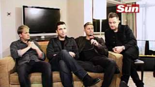 Westlife talk about JLS at The Sun
