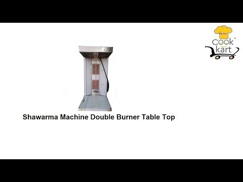 Shawarma Machine Double Burner Table Top