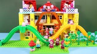 Peppa Pig Blocks Mega House Construction Sets - Lego Duplo House Creations Toys For Kids #6