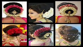 Perfect N Stunning Hairstyles For Wedding Bride | Indian Bride Bun Hairstyle With Real Flowers