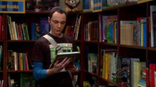 Sheldon à la bibliothèque