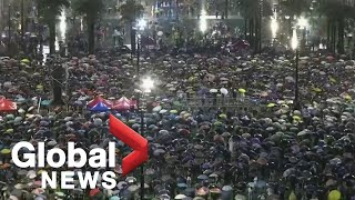 Protesters rally at Victoria Park in Hong Kong, demand political reform| LIVE