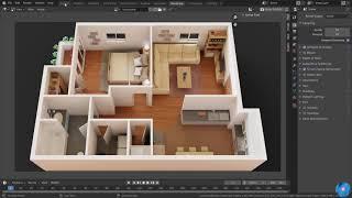 How To Make 3d Floor Plan In Blender | Best Method (Modeling)
