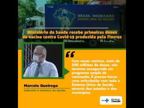 Brasil recebe as primeiras vacinas produzidas pela Fiocruz.