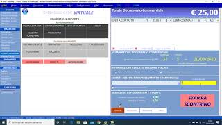 Cassa - Registrazione scontrini virtuali senza Cassa collegata