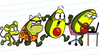 Vegetable EVOLUTION FAIL    Awkward Situations When Your Neighbor Lives in CAVE    Avocado Couple