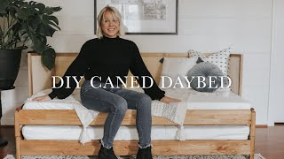 DIY Caned Daybed + Ikea Hack | Daytime Sofa / Large Night Time Guest Bed
