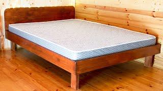 Как сделать 2х спальную кровать своими руками из дерева