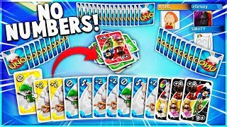 Playing The NO NUMBER Uno Challenge!