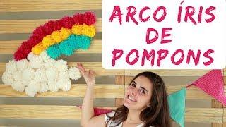Arco Íris De Pompons De Lã - Decoração Festa Infantil