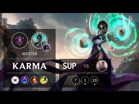 Karma Support vs Rakan - KR Master Patch 9.12