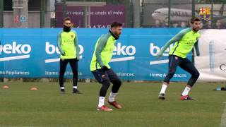 FC Barcelona training session: Last training session before the trip to Eibar