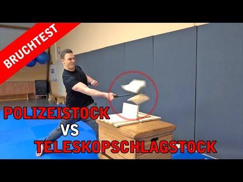 POLIZEISTOCK VS TELESKOPSCHLAGSTOCK HÄRTETEST !!!!!!
