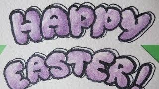 How to Write Happy Easter - Easter card DIY Bubble Letters