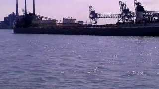 preview picture of video 'Freighter Manistee In Detroit River'