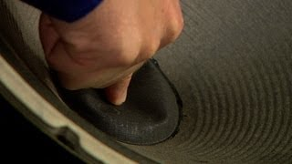 CNET How To - Fix a dented speaker cone