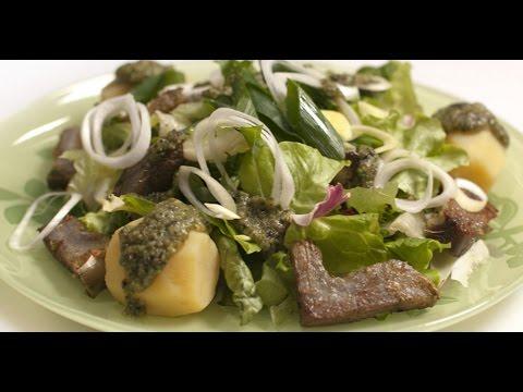 Зеленый салат из артишоков    7 нот вегетарианской кухни