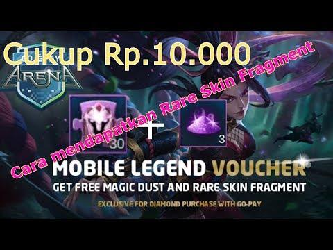 Cara Mendapatkan Rare Skin Fragment & Magic dust Dengan Go-pay di Codashop cukup modal Rp.10.000