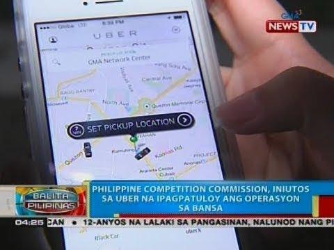 [GMA]  BP: Philippine Competition Commission, iniutos sa Uber na ipagpatuloy ang operasyon sa bansa