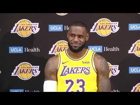 608a1c2c1  FULL  LeBron James  first press conference with Los Angeles Lakers
