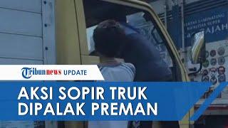 Viral Video Aksi Preman Palak Sopir Truk di Cakung, Kaca Spion Dipecah, Kini Pelaku Ditangkap