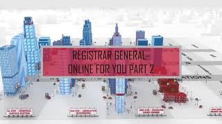 Registrar General - Online for You - Part 2