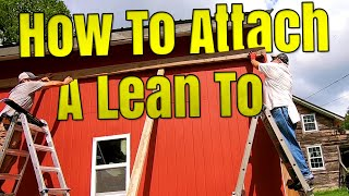 DIY Lean to Shed - Attaching Ridge Beam and Supports