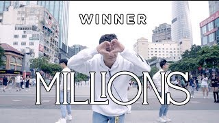 [KPOP IN PUBLIC CHALLENGE] WINNER - 'MILLIONS' | Dance Cover | B.K.A.V | Phố đi bộ Nguyễn Huệ